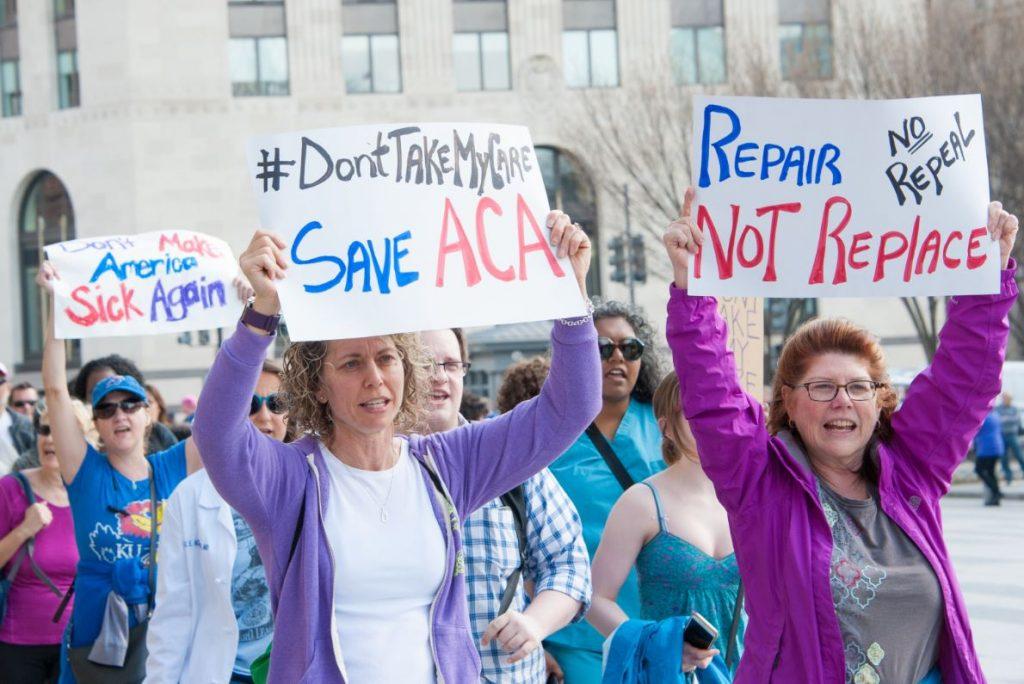 protestas a favor de obamacare 1